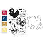 Hero Arts - Parisian Style Collection - Coloring Layering Bundle - Rooster
