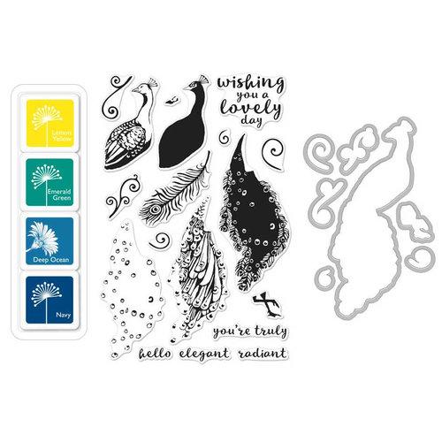Hero Arts - Coloring Layering Bundle - Peacock