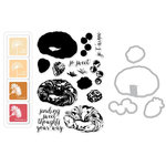 Hero Arts - Parisian Style Collection - Coloring Layering Bundle - Croissant