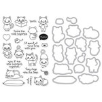 Hero Arts - Die and Clear Acrylic Stamp Set - Purr