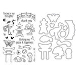 Hero Arts - Garden Collection - Die and Clear Acrylic Stamp Set - Japanese Wishing Garden