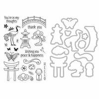 Hero Arts - Garden Collection - Die and Clear Photopolymer Stamp Set - Japanese Wishing Garden