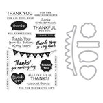 Hero Arts - Die and Clear Acrylic Stamp Set - Thank You Messages