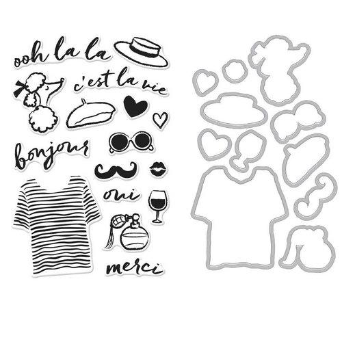 Hero Arts - Die and Clear Photopolymer Stamp Set - Ooh La La