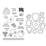 Hero Arts - Garden Collection - Die and Clear Acrylic Stamp Set - Busy As A