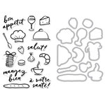 Hero Arts - Parisian Style Collection - Die and Clear Acrylic Stamp Set - Bon Appetite