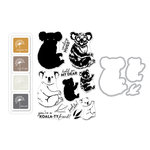 Hero Arts - Die and Clear Acrylic Stamp Set - Color Layering Koala