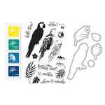 Hero Arts - Die and Clear Photopolymer Stamp Set - Color Layering Parrot