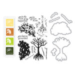 Hero Arts - Die and Clear Acrylic Stamp Set - Color Layering Mangrove