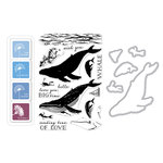 Hero Arts - Die and Clear Acrylic Stamp Set - Color Layering Whale