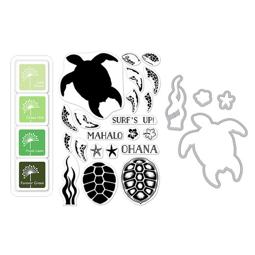 Hero Arts - Die and Clear Photopolymer Stamp Set - Color Layering Sea Turtle