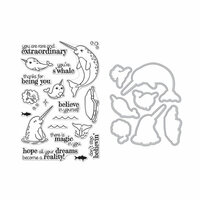 Hero Arts - Die and Clear Photopolymer Stamp Set - Believe In Yourself Narwhal