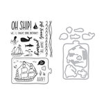 Hero Arts - Die and Clear Photopolymer Stamp Set - Enjoy The Journey