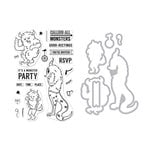 Hero Arts - Die and Clear Photopolymer Stamp Set - Monster Greetings