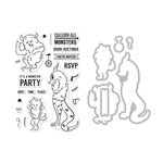 Hero Arts - Die and Clear Acrylic Stamp Set - Monster Greetings