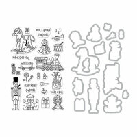 Hero Arts - Die and Clear Photopolymer Stamp Set - Christmas Toys