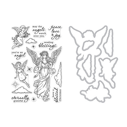 Hero Arts - Christmas - Die and Clear Photopolymer Stamp Set - Angels