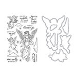Hero Arts - Christmas - Die and Clear Acrylic Stamp Set - Angels