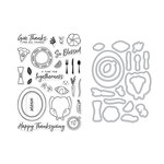 Hero Arts - Die and Clear Acrylic Stamp Set - Thanksgiving Table