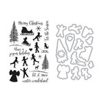 Hero Arts - Christmas - Die and Clear Acrylic Stamp Set - Winter Silhouettes