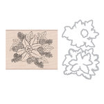Hero Arts - Die and Clear Photopolymer Stamp Set - The Holly and Ivy
