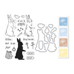 Hero Arts - Coloring Layering Bundle - Rabbit