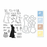 Hero Arts - Coloring Layering Bundle - Rabbit