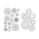 Hero Arts - Die and Clear Acrylic Stamp Set - Blossoms for Coloring