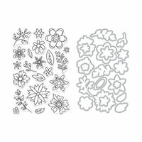 Hero Arts - Die and Clear Photopolymer Stamp Set - Flowers for Coloring