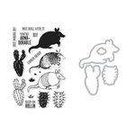 Hero Arts - Die and Clear Acrylic Stamp Set - Color Layering Armadillo