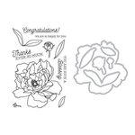Hero Arts - Die and Clear Photopolymer Stamp Set - Peonies