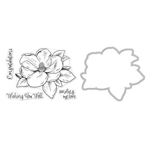 Hero Arts - Die and Clear Photopolymer Stamp Set - Hero Florals - Magnolia