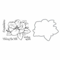 Hero Arts - Die and Clear Photopolymer Stamp Set - Hero Florals - Magnolia