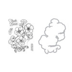 Hero Arts - Die and Clear Photopolymer Stamp Set - Hero Florals - Nasturtium