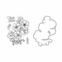 Hero Arts - Die and Clear Photopolymer Stamp Set - Hero Florals - Nasturtium