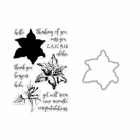 Hero Arts - Die and Clear Photopolymer Stamp Set - Color Layering Tiger Lily