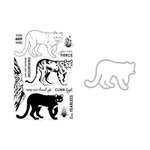 Hero Arts - Die and Clear Acrylic Stamp Set - Color Layering Mountain Lion