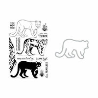 Hero Arts - Die and Clear Photopolymer Stamp Set - Color Layering Mountain Lion