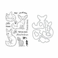 Hero Arts - Die and Clear Photopolymer Stamp Set - Fennec The Fox