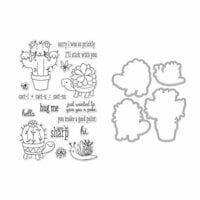Hero Arts - Die and Clear Photopolymer Stamp Set - Cactus Animals