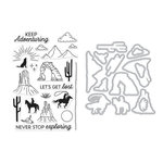 Hero Arts - Die and Clear Acrylic Stamp Set - Cowboy Adventure