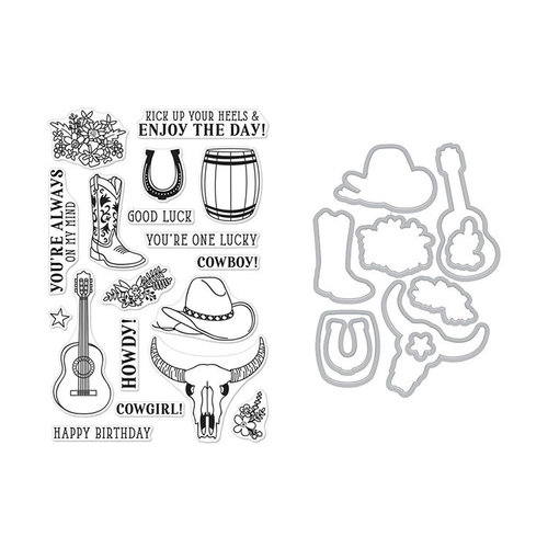 Hero Arts - Die and Clear Photopolymer Stamp Set - Cowboy Life