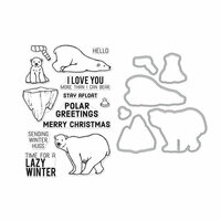 Hero Arts- Season of Wonder Collection - Christmas - Die and Clear Photopolymer Stamp Set - Polar Greetings