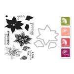 Hero Arts- Season of Wonder Collection - Christmas - Die and Clear Photopolymer Stamp Set - Color Layering Poinsettia