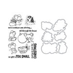 Hero Arts- Season of Wonder Collection - Die and Clear Photopolymer Stamp Set - Christmas Mice