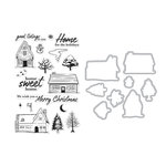 Hero Arts- Season of Wonder Collection - Christmas - Die and Clear Photopolymer Stamp Set - Home for the Holidays