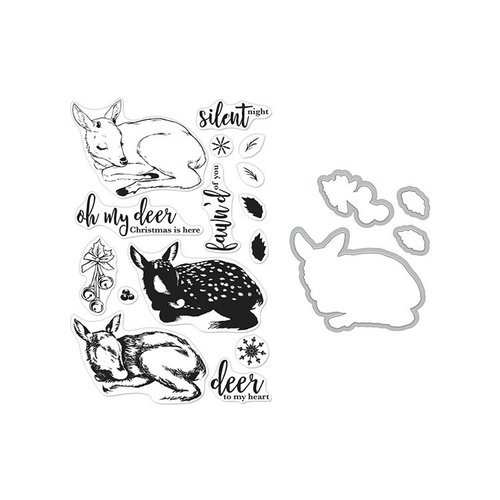 Hero Arts- Season of Wonder Collection - Christmas - Die and Clear Photopolymer Stamp Set - Color Layering Fawn