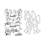 Hero Arts- Season of Wonder Collection - Die and Clear Photopolymer Stamp Set - Bundle Up