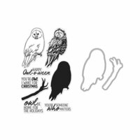 Hero Arts- Season of Wonder Collection - Halloween - Die and Clear Photopolymer Stamp Set - Color Layering Owl