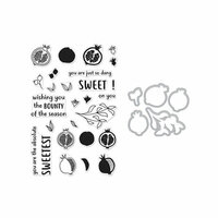 Hero Arts- Season of Wonder Collection - Die and Clear Photopolymer Stamp Set - Color Layering Pomegranate